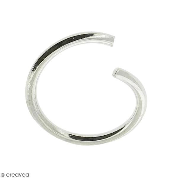 Anneaux ouverts - Diamètre 6 mm - Métal argenté - 50 pcs - Photo n°1