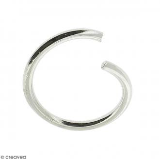 Anneaux ouverts - Diamètre 6 mm - Métal argenté - 50 pcs