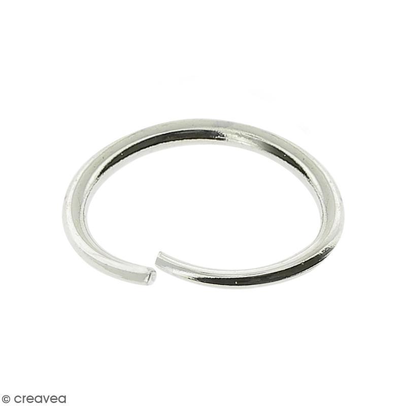 Anneaux ovales ouverts - Diamètre 6 mm - Métal argenté - 6 x 4 x 1 mm - 50 pcs - Photo n°1