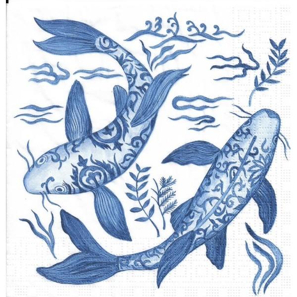 Rice Paper for Decoupage Decopatch Scrapbooking Sheet Craft Retro Sea/& Fish U//48