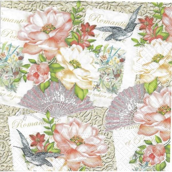 Papier de riz pour decoupage DECOPATCH Scrapbook Craft Feuille Daisy et papillon