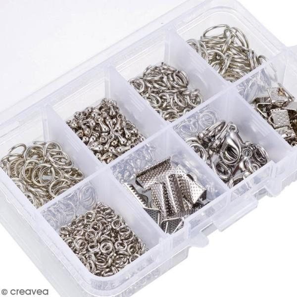 Assortiment d'accessoires pour bijoux - Fermoirs, embouts et anneaux - 565 pcs - Photo n°2