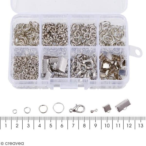 Assortiment d'accessoires pour bijoux - Fermoirs, embouts et anneaux - 565 pcs - Photo n°3