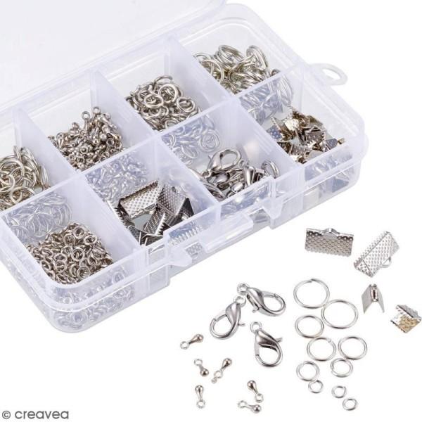 Assortiment d'accessoires pour bijoux - Fermoirs, embouts et anneaux - 565 pcs - Photo n°4