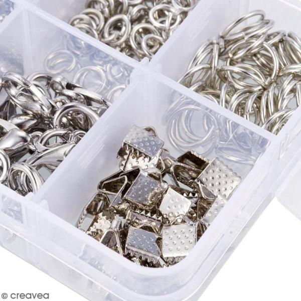 Assortiment d'accessoires pour bijoux - Fermoirs, embouts et anneaux - 565 pcs - Photo n°5