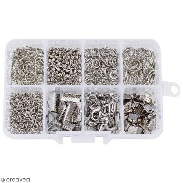 Assortiment d'accessoires pour bijoux - Fermoirs, embouts et anneaux - 565 pcs - Photo n°1