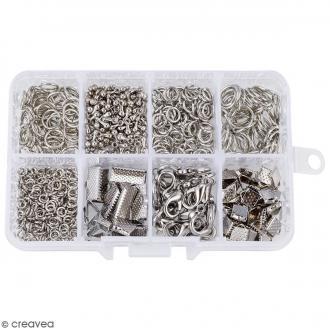 Assortiment d'accessoires pour bijoux - Fermoirs, embouts et anneaux - 565 pcs