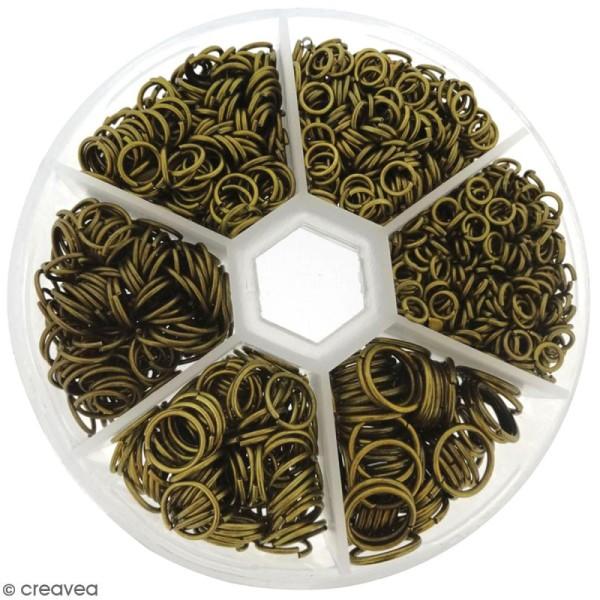 Assortiment d'anneaux pour bijoux - Bronze - 1650 pcs - Photo n°1