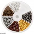 Assortiment de perles billes en métal 4 mm - 600 pcs