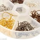 Assortiment boucles d'oreilles crochet 18 mm - 60 paires - Photo n°2