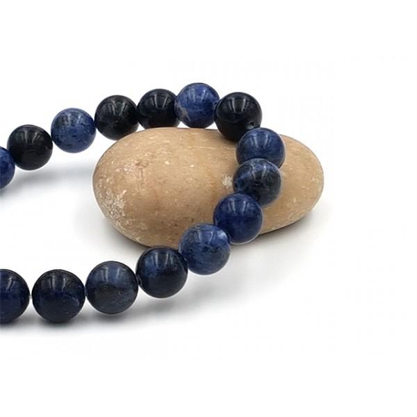 19 Perles De Sodalite Naturelles 10mm - Photo n°1