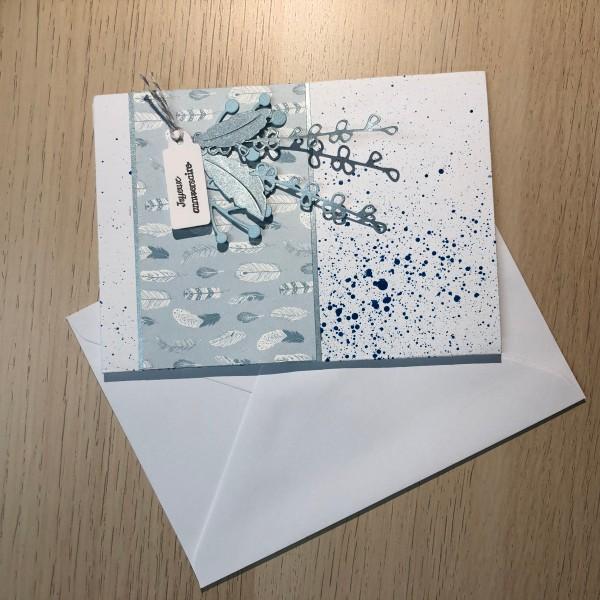 Scrapbooking Carte Anniversaire.Kit Scrapbooking Carte D Anniversaire 10 5 15 Cm