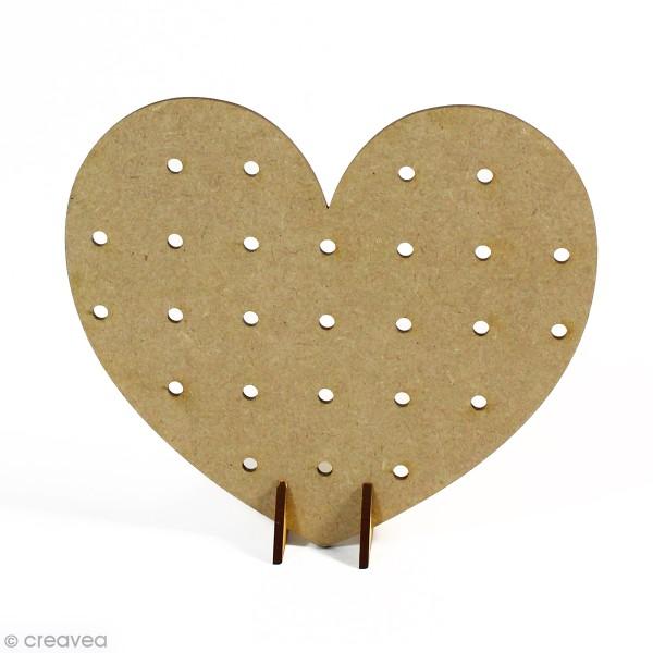 Mini Pegboard Coeur à poser - 17 x 15 cm - Photo n°1