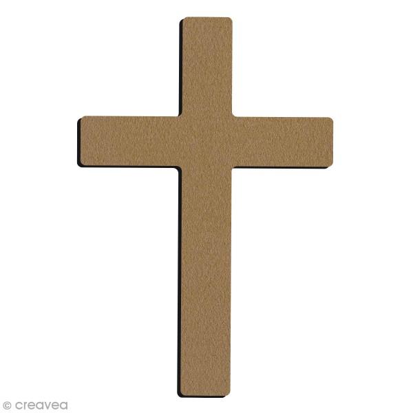 Croix Chrétienne en bois à décorer  - 4,5 x 7 cm - Photo n°1