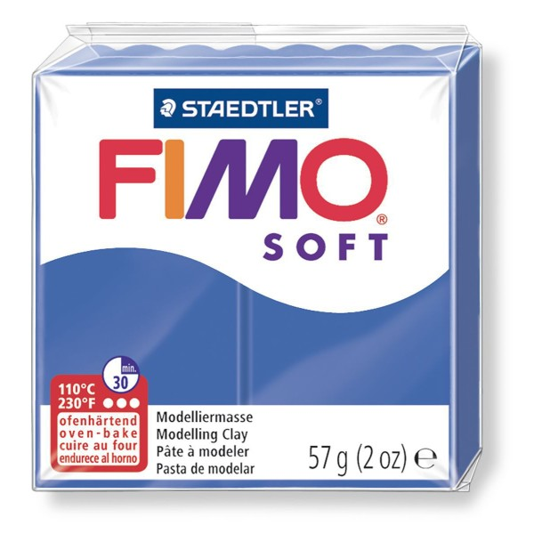 FIMO Soft Bleu Foncé 57 octies, Bricolage Miniatures, Bricolage à la Main, de l'Artisanat Fourniture - Photo n°1