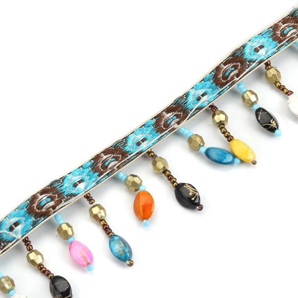 1m ruban dentelle franges perles bijoux scrapbooking sc0125356 galon pompon creavea. Black Bedroom Furniture Sets. Home Design Ideas
