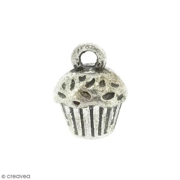 Breloque métal Cupcake - 14 x 10 mm - Photo n°1