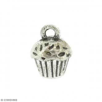 Breloque métal Cupcake - 14 x 10 mm