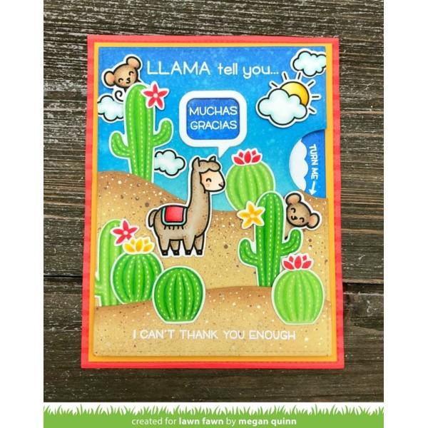Tampon Lawn Fawn - Llama tell you - 7 pcs - Photo n°2