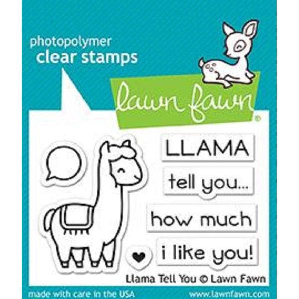 Tampon Lawn Fawn - Llama tell you - 7 pcs - Photo n°1