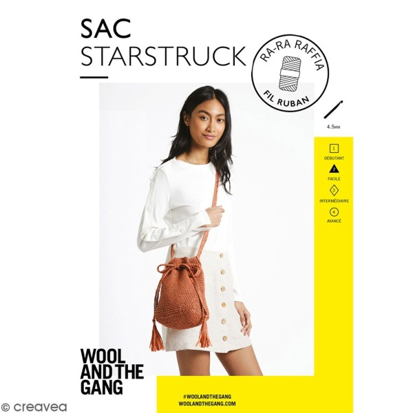 Patron Sac crochet Starstruck - Ra-Ra Raffia Wool & the Gang - niveau Facile - Photo n°1