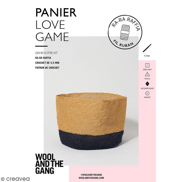 Patron Panier crochet Love game - Ra-Ra Raffia Wool & the Gang - niveau Intermédiaire - Photo n°1