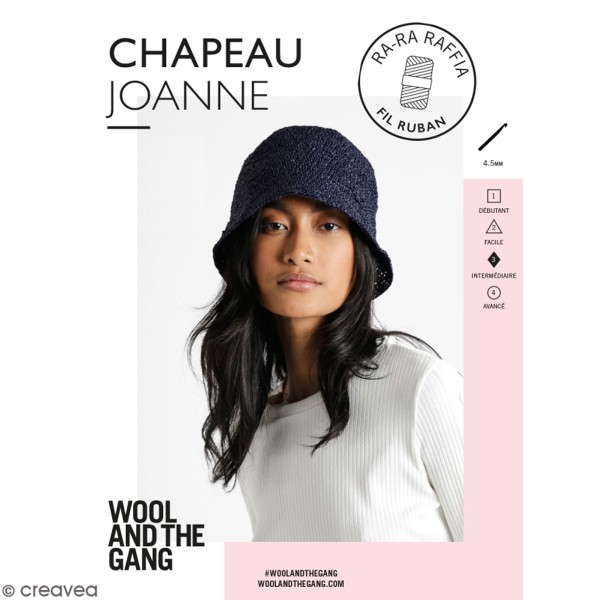 Patron Chapeau crochet Joanne - Ra-Ra Raffia Wool & the Gang - niveau Intermédiaire - Photo n°1