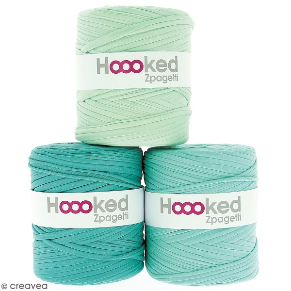 Zpagetti Hoooked DMC - Pelote Jersey Bleu turquoise pastel - 120 mètres - Photo n°1