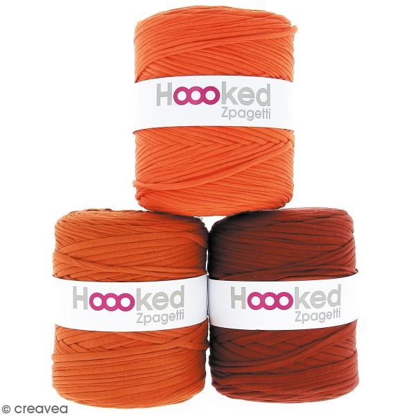 Zpagetti Hoooked DMC - Pelote Jersey Orange - 120 mètres - Photo n°1