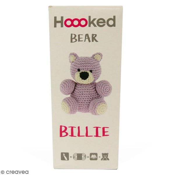 Kit crochet Amigurumi Hoooked - Billie l'ours - 4 pcs - Photo n°1