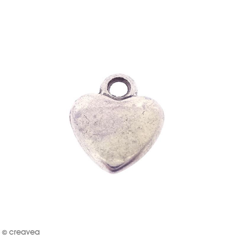 Breloque métal Coeur - 10 mm - Photo n°1