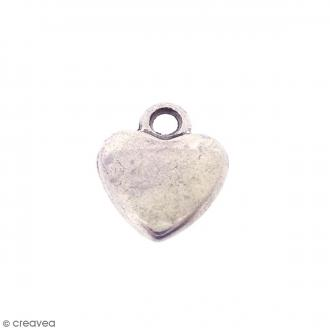Breloque métal Coeur - 10 mm