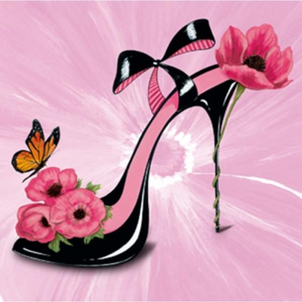 Image 3D - ncn 4968 - 30x30 - chaussure fleurie 2 - Photo n°1