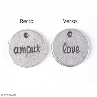 Breloque métal Love - 15 mm