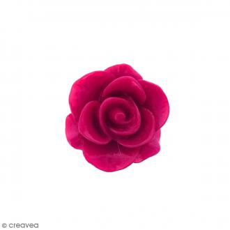 Cabochon Fleur en résine Rose fuchsia - 20 mm - 1 pce