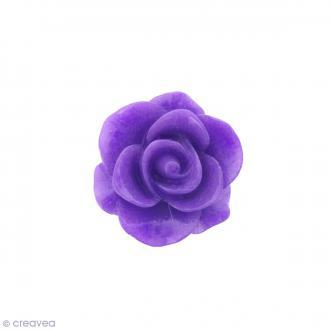 Cabochon Fleur en résine Violet mauve - 20 mm - 1 pce