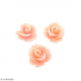 Cabochon Fleur en résine Rose pastel - 10 mm - 10 pcs