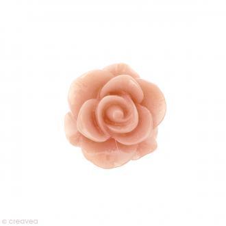 Cabochon Fleur en résine Rose pastel - 20 mm - 1 pce