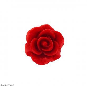 Cabochon Fleur en résine Rouge - 20 mm - 1 pce