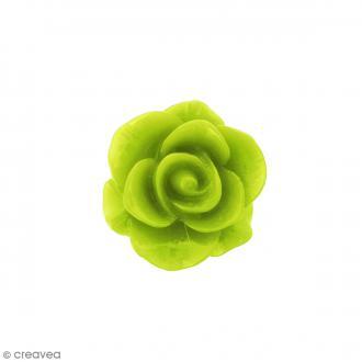 Cabochon Fleur en résine Vert d'eau - 20 mm - 1 pce