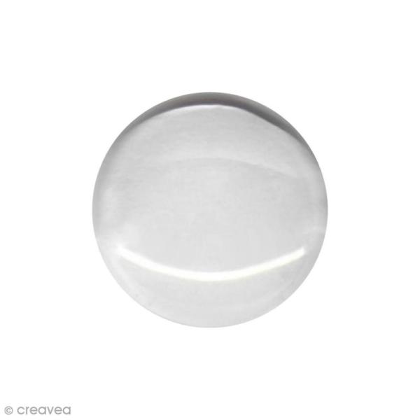 Cabochon en verre - Transparent - 10 mm - Photo n°1