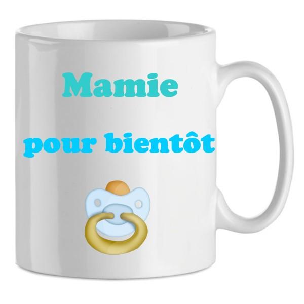 Idee Cadeau Fete Grand Mere.Mug Mamie Pour Bientot En Bleu En Ceramique Idee Cadeau Noel Anniversaire Fete Des Grand Mere