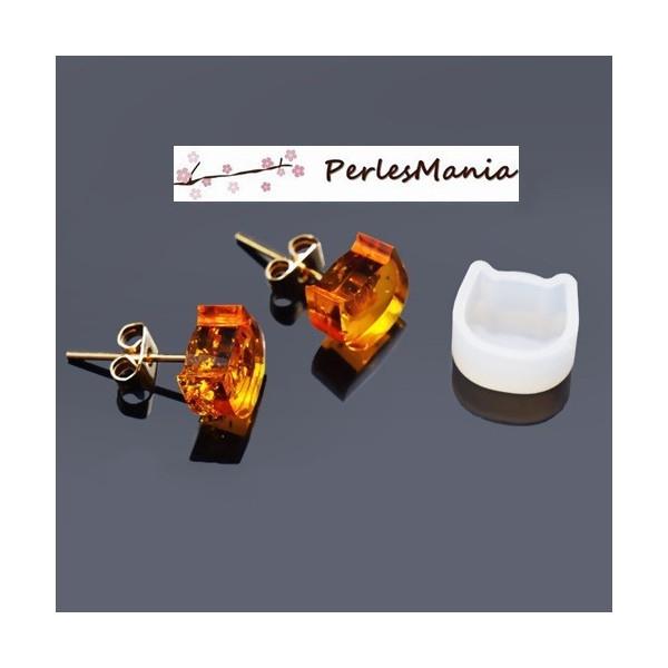 PAX 5 MOULE EN SILICONE pendentif CHAT 10mm utilisation FIMO RESINE S1186538 - Photo n°2