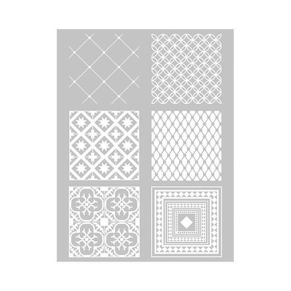 1 Pochoir Carreaux de Ciment pour PATE FIMO,PATE POLYMERE, CERNIT, SCULPEY ref 265315 DTM - Photo n°1