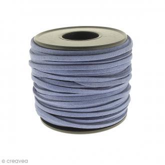 Cordon Suédine - 3 mm - Bleu jean - Au mètre (sur mesure)