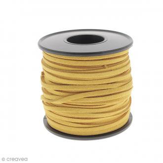 Cordon Suédine - 3 mm - Orange - Au mètre (sur mesure)