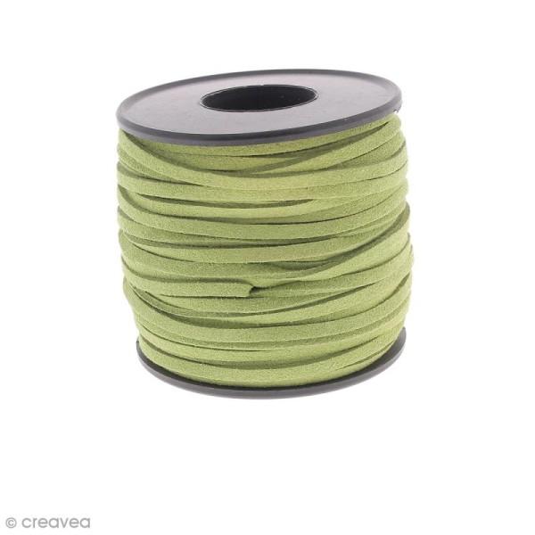 Cordon Suédine - 3 mm - Vert olive - Au mètre (sur mesure) - Photo n°1