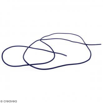 Cable PVC Creux 3 mm Buna Bleu pétrole - Au mètre (sur mesure)