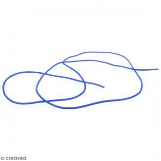 Cable PVC Creux 3 mm Buna Bleu - Au mètre (sur mesure)