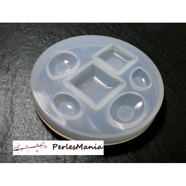 Mini moule en silicone Cabochons Pierres Précieuses pour créations en résine 82 par 10mm H4001 - Photo n°1